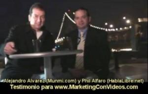 """""""Si Estás Interesado En Llevar Tráfico Hacia Tu Web, el Curso de Marketing Con Videos Es Para Tí"""" – Alejandro Alvarez Ayala"""