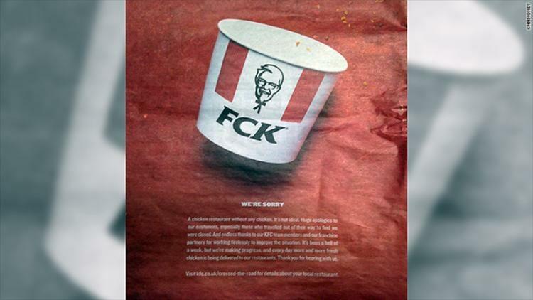 KFC: geniales lecciones de marketing en medio de la crisis