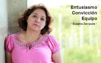 Susana Jacques se retiró para trabajar, vivir y ser feliz
